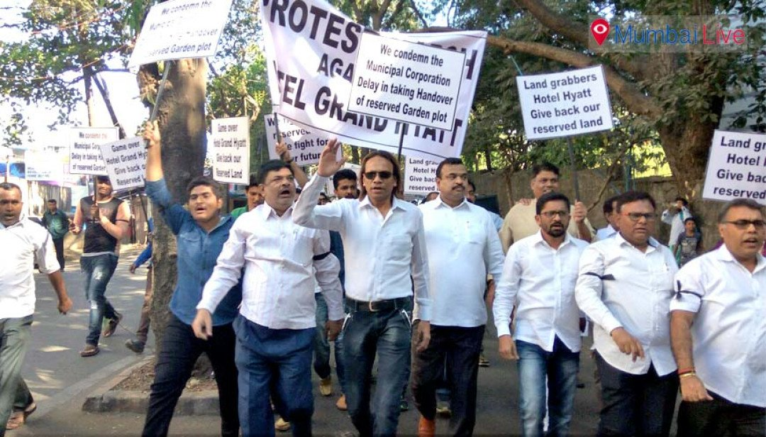 Citizens protest against Grand Hyat