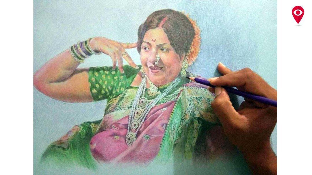 चित्रातून रेखाटले भारतीय संस्कृतीचे सौंदर्य