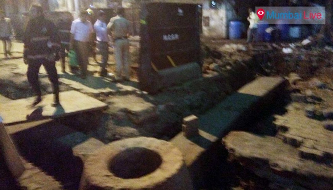 Power supply line breaks off at Phaltan Road