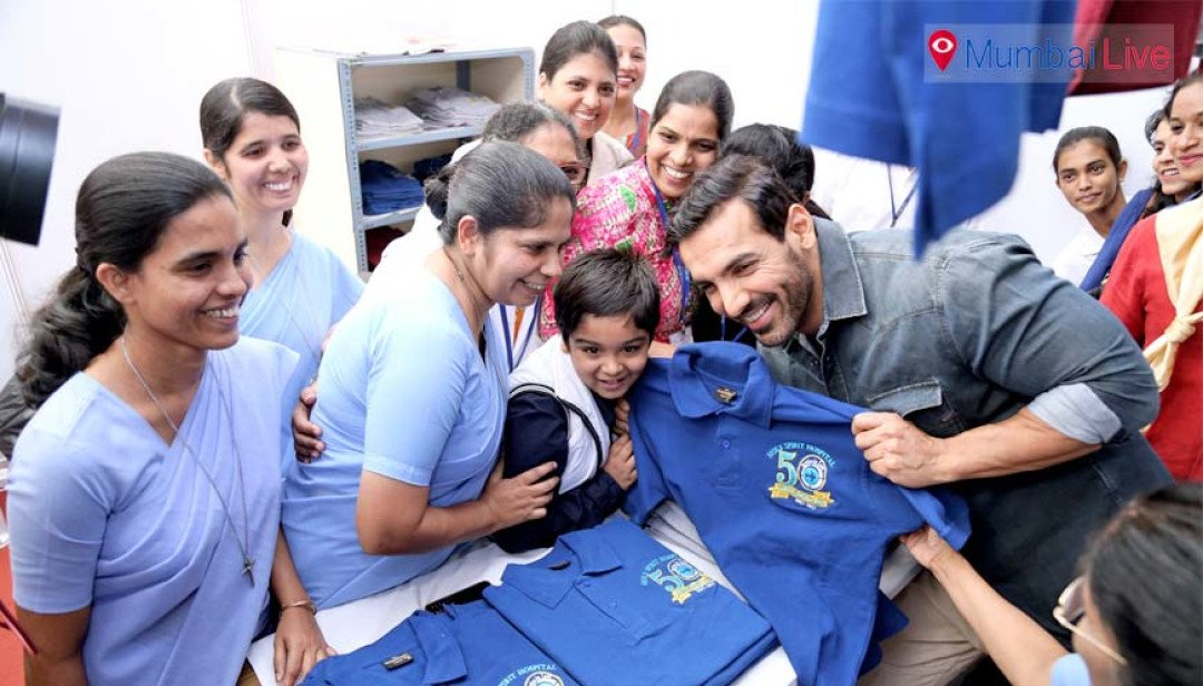 John Abraham at Holy Spirit Hospital