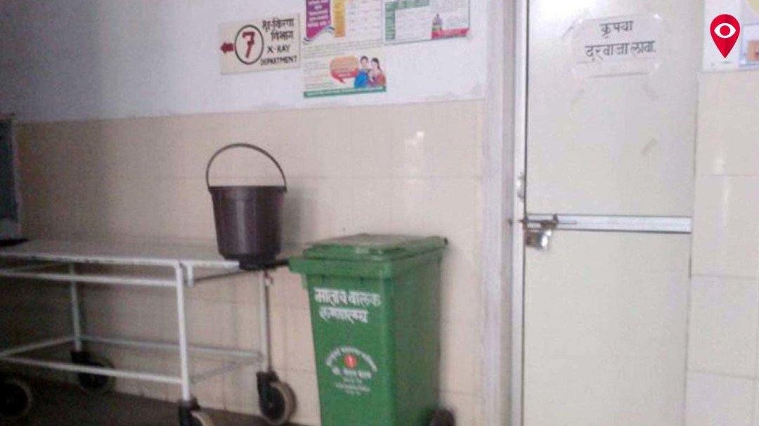 एम महिने का दावा हुआ फेल ,सरकारी अस्पताल में अभी भी एक्स-रे विभाग बंद