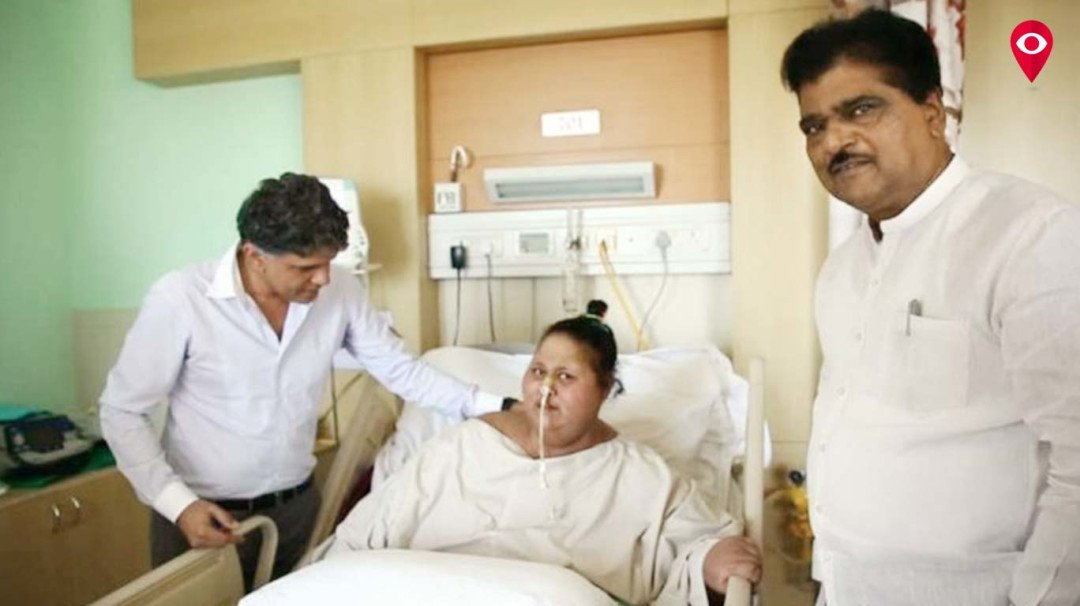 Health minister meets Eman Ahmed at Saifi Hospital