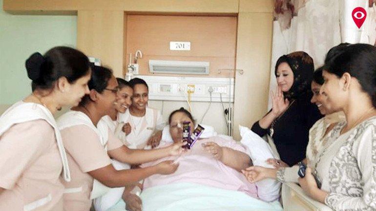 इमानला सैफी रुग्णालयातून डिस्चार्ज