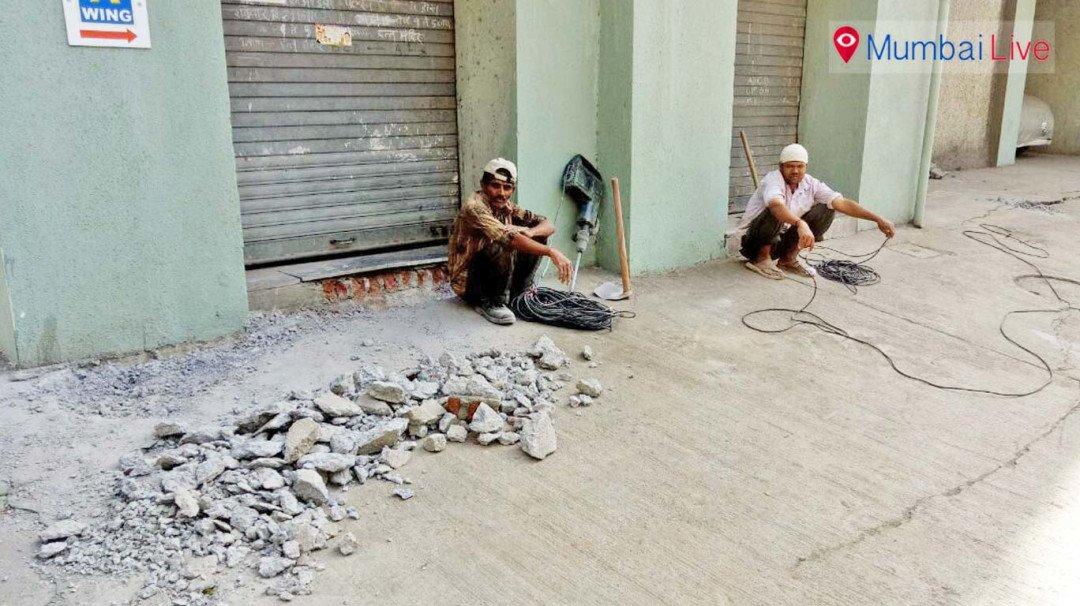 मुंबई लाइव की खबर का असर... शुरू हुआ कार्य