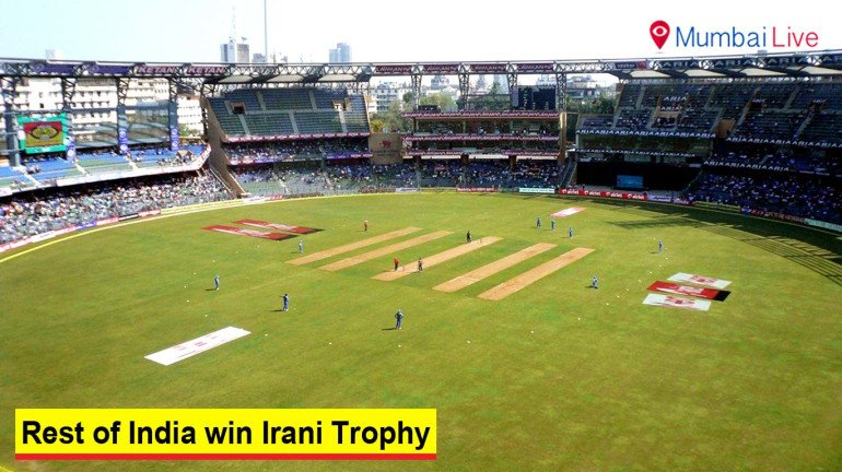 Rest of India win Irani Trophy