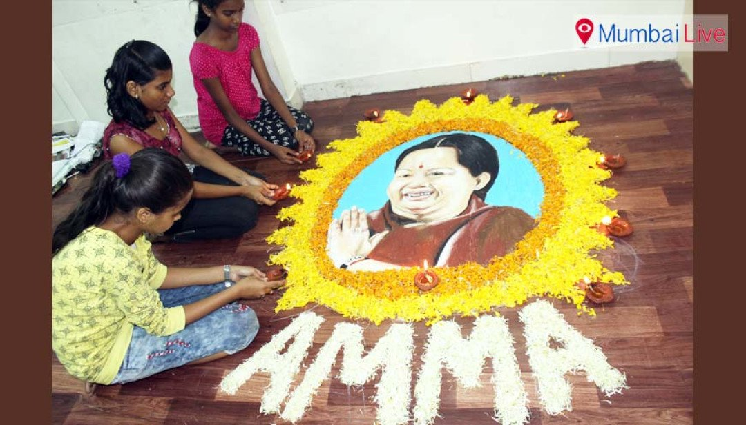 Homage through rangoli