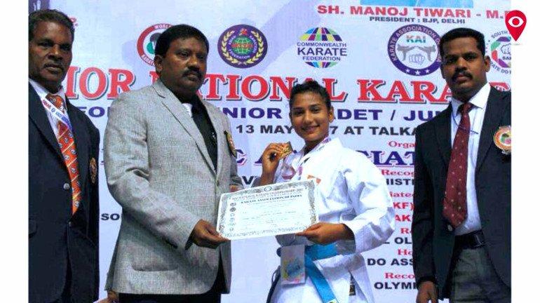 कराटे नेशलन चैम्पियनशिप प्रतियोगिता में वसई की बेटी ने जीता गोल्ड मेडल