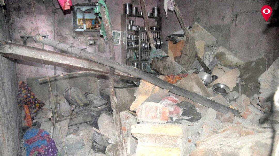 घर गिरने से 6 लोग जख्मी