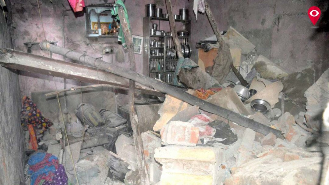 Month-old baby miraculously escapes unhurt as a 2-storey building collapses