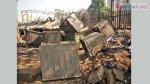 Debris, garbage lying unattended on footpath