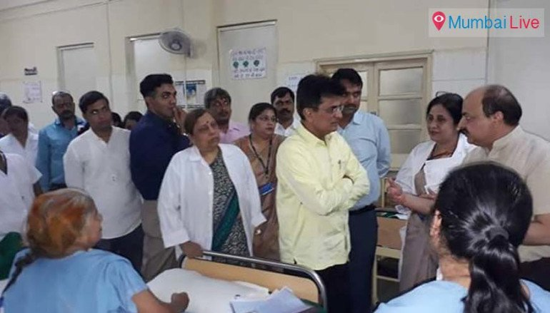 Kirit Somaiya visits ESIC kamgar hospital