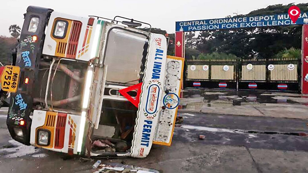 कांदिवलीत ऑइल टँकरला अपघात