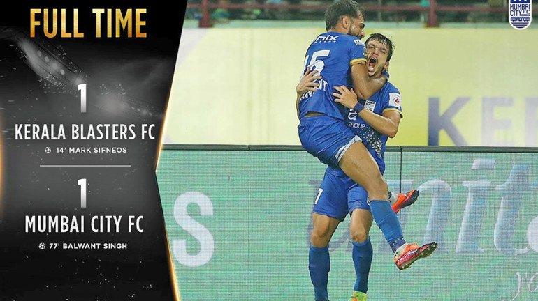 The Islanders hold Kerala Blasters to a 1-1 draw in Kochi