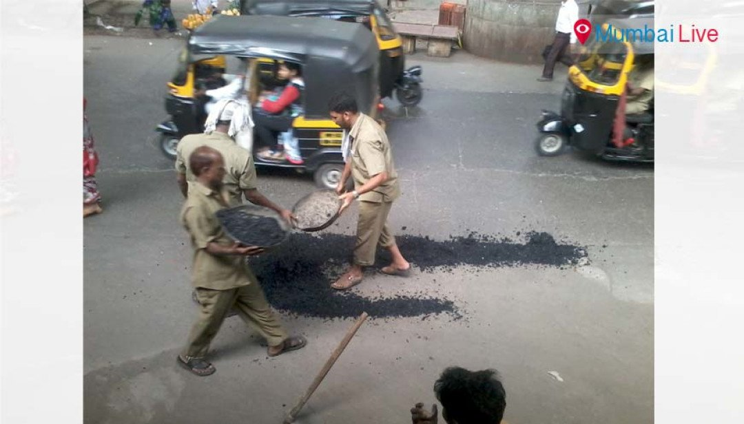 BMC fills-up Ghatkopar potholes