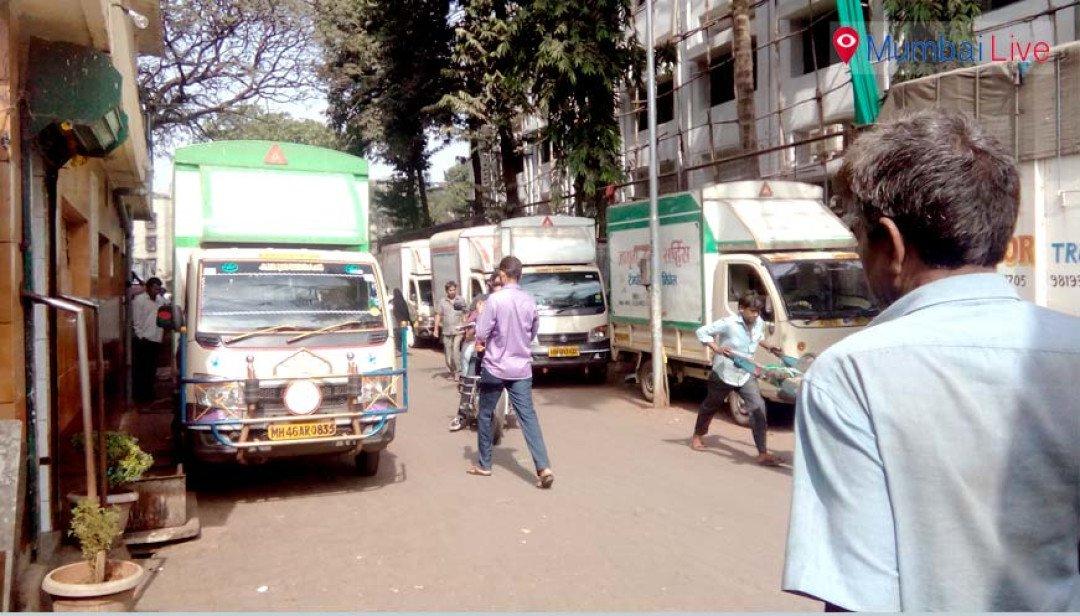 Illegal parking causes traffic jams