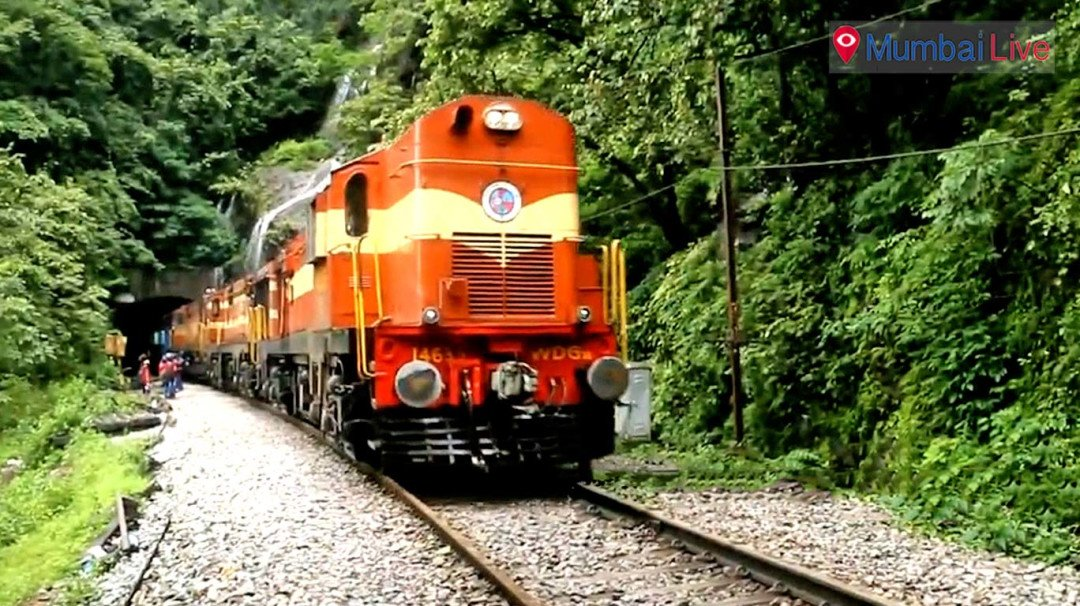 Special traffic block on Konkan railway track
