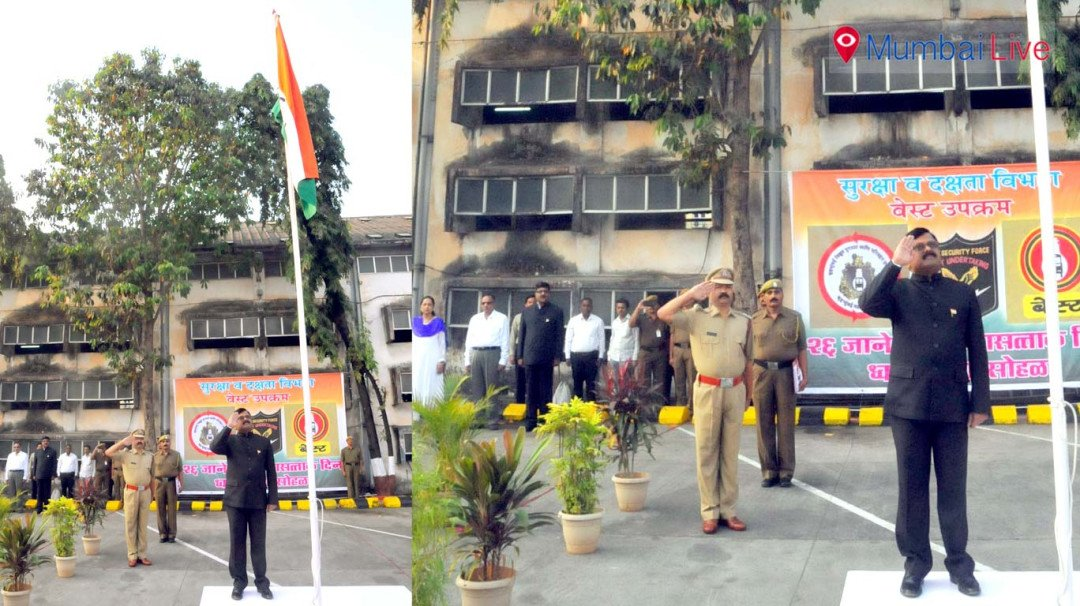 Republic Day celebrations at Colaba BEST depot
