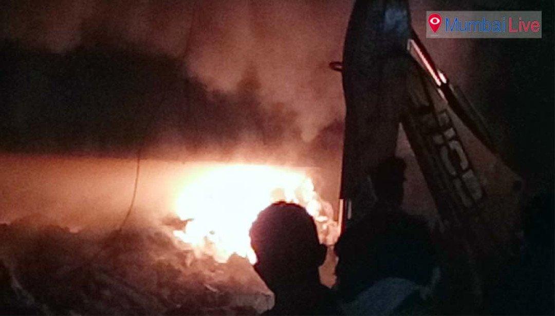 Fire under Kurla bridge