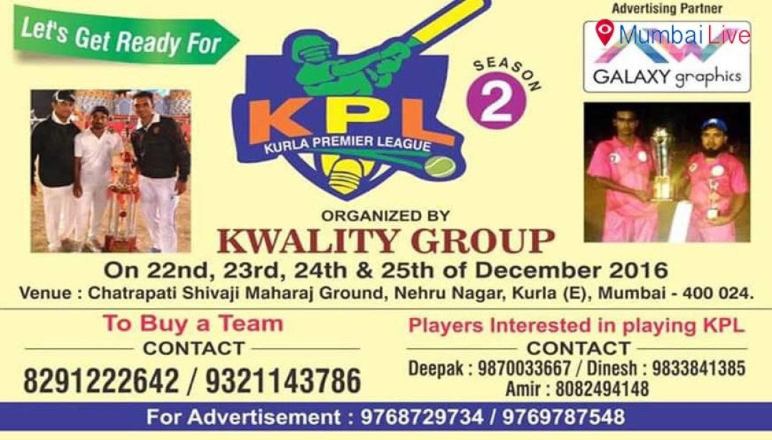 KPL flags off in Kurla