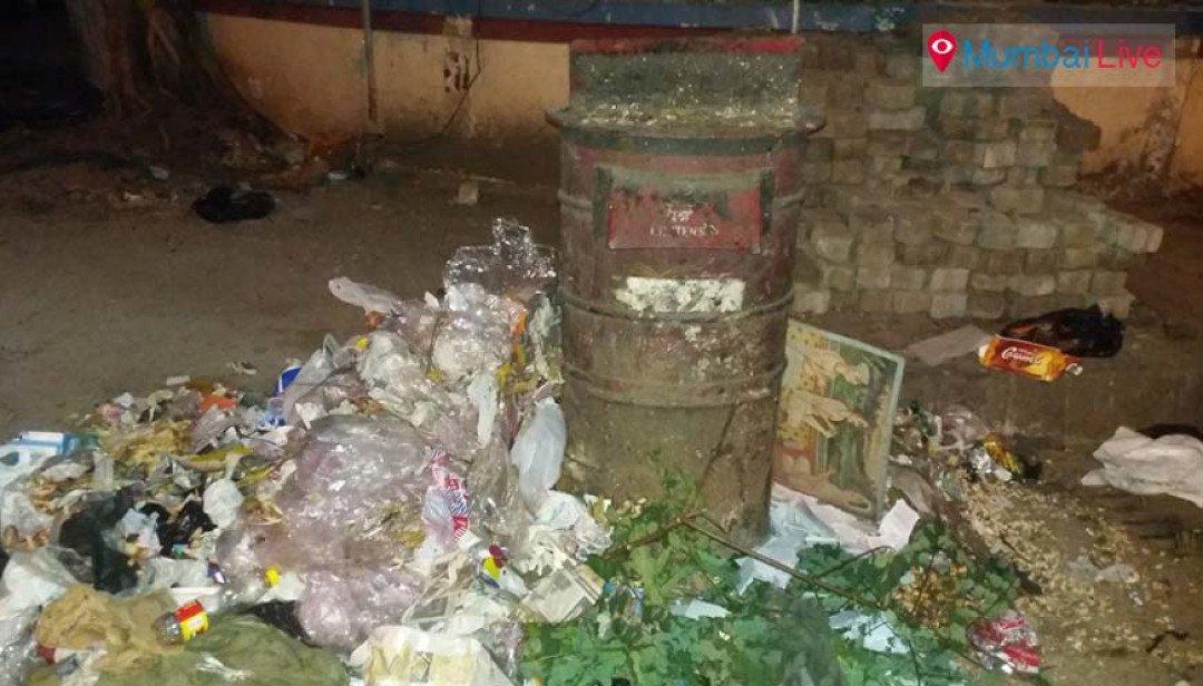 Post box turns into dust bin