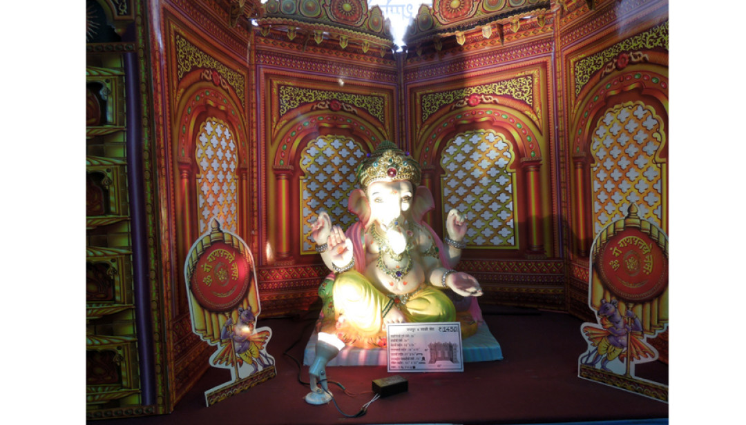 Eco-friendly Bappa in exhibition