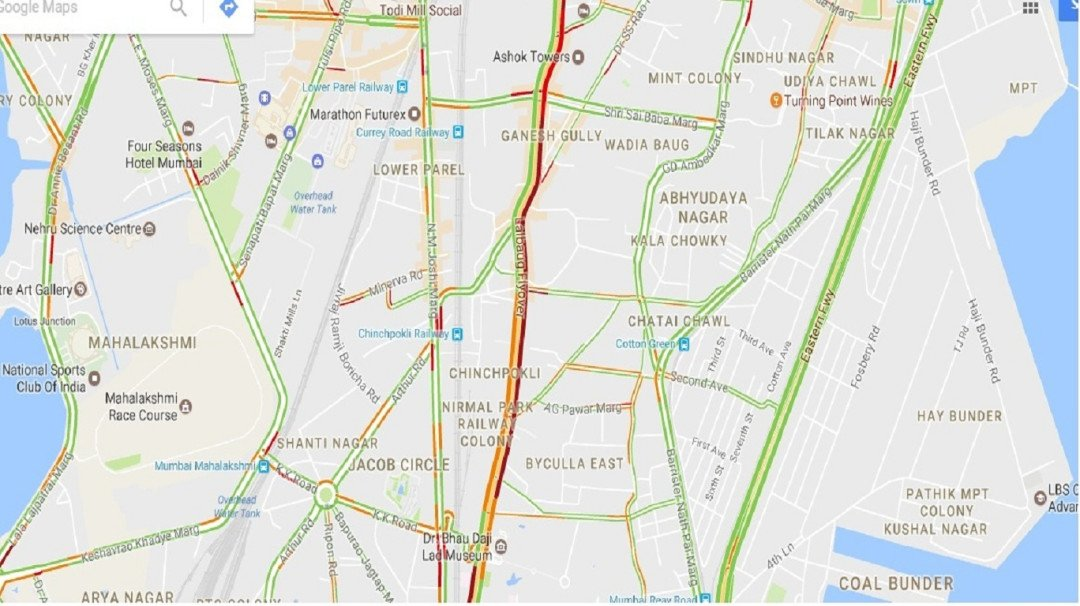 Traffic resumes on Lalbaug flyover