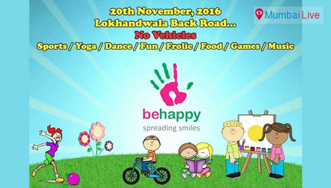 लोखंडवाला में 'बी हैप्पी' रास्ता महोत्सव