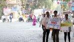 NSS volunteers educate people on traffic