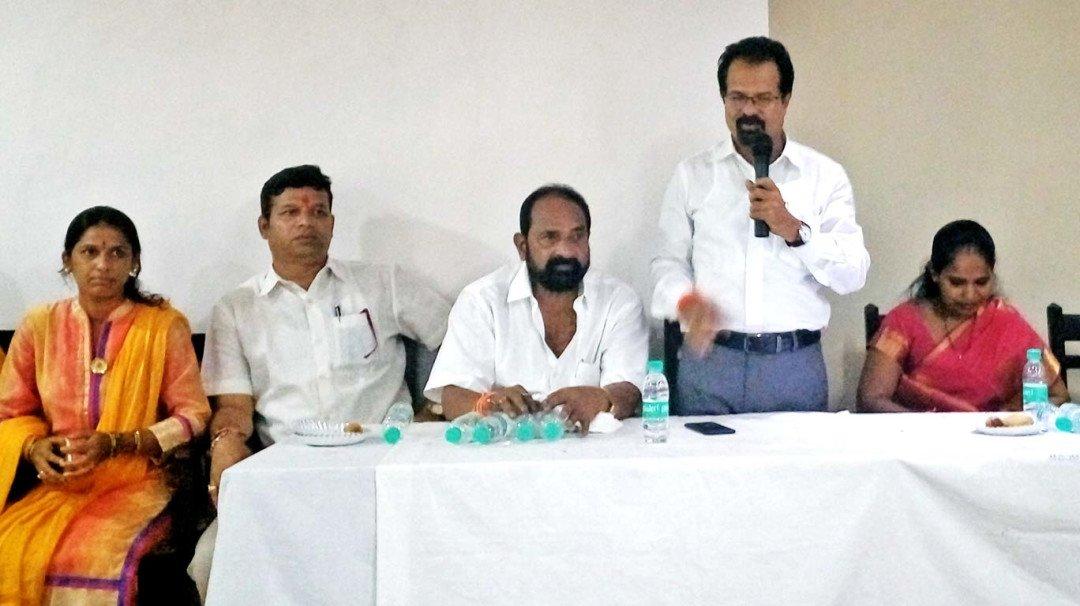 Vishwanath Mahadeshwar attends programme in the TB hospital