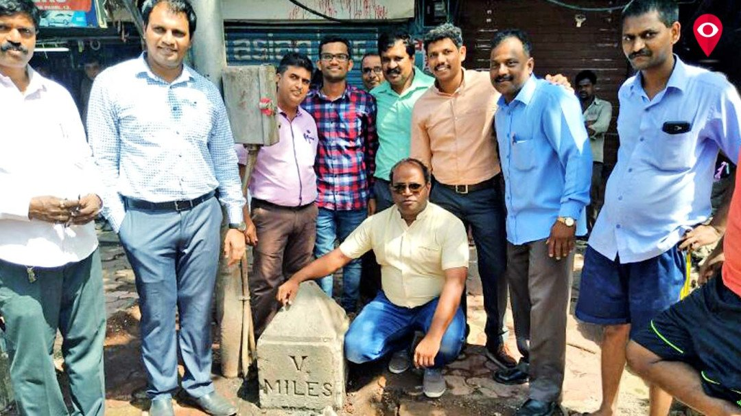 मुंबई में ब्रिटिश कालीन पत्थर मिला