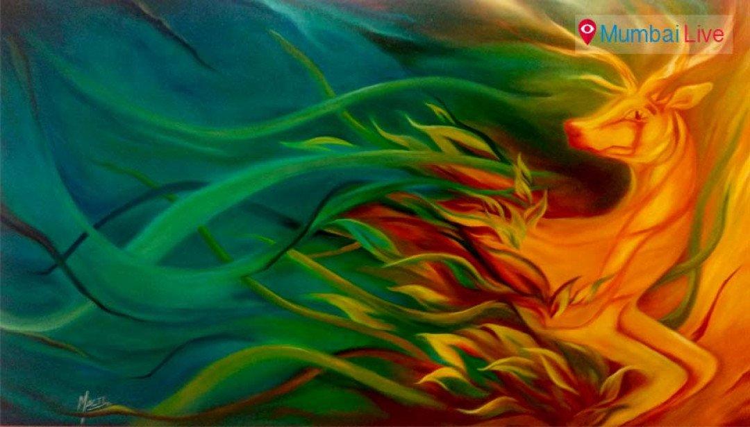 Malti Menon's paintings exhibition