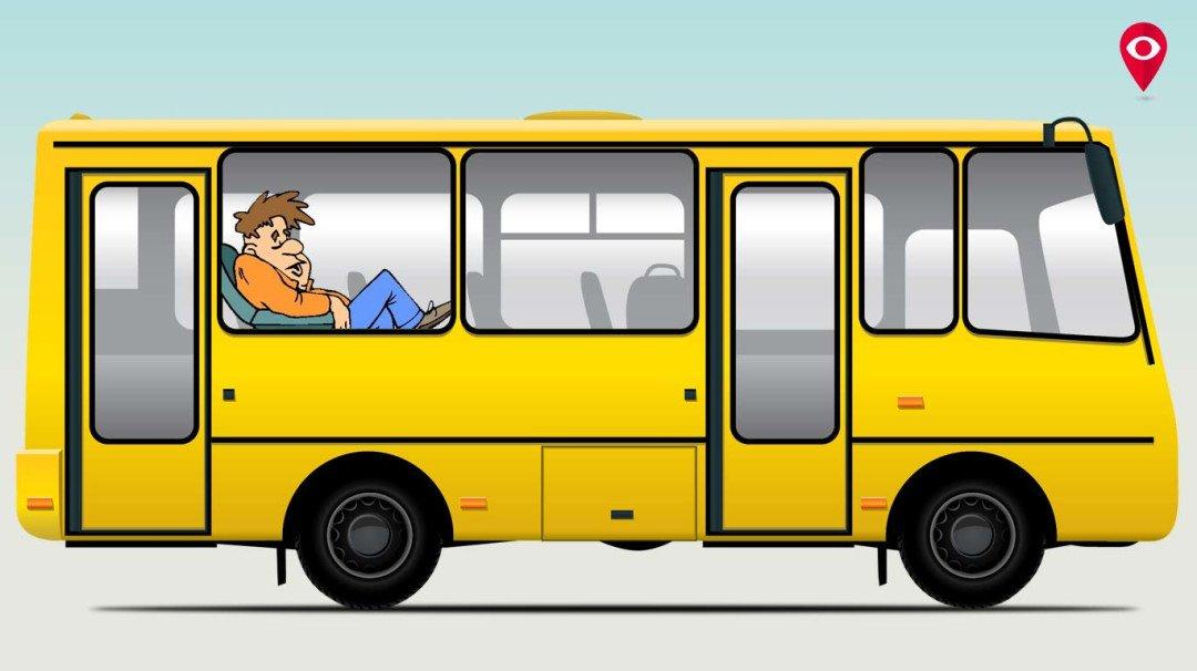 विमानात चढायचे विसरून तो बसमध्येच झोपला!