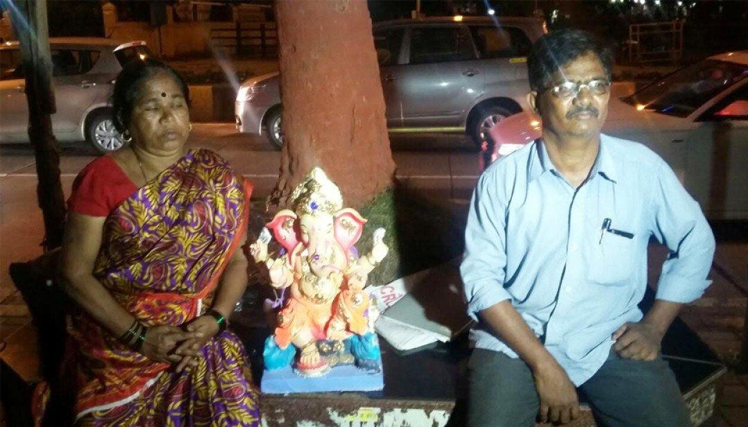 With Ganpati @ Mantralaya