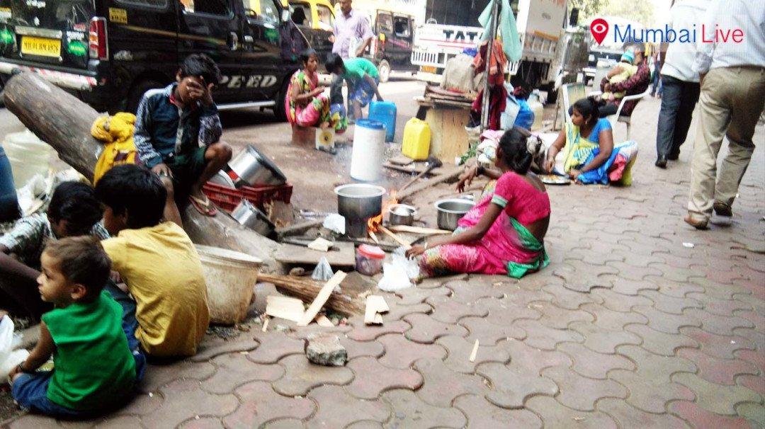 BMC leaves bark on road, destitute uses it