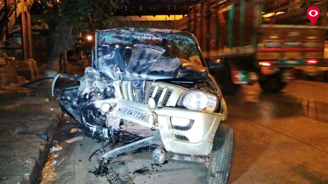 स्कॉर्पियो आणि ट्रकचा भीषण अपघात, 9जण जखमी