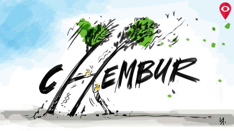 Chembur tree is falling down... falling down...