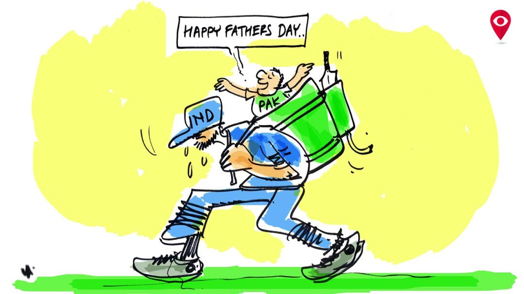 India humbled on Father's day
