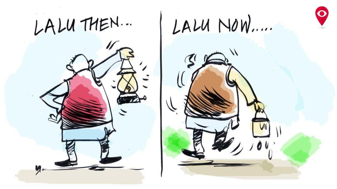 Nitish Kumar abandons Lalu Prasad Yadav
