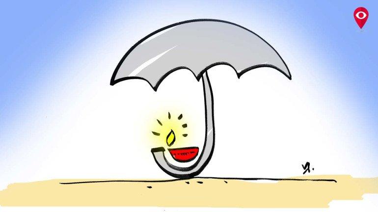 दिवाली में बारिश!