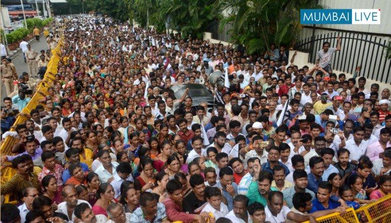 CSK Slum Protests against JVK