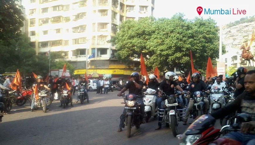Maratha bike rally from Ghatkopar