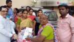 Free food distribution for destitute women