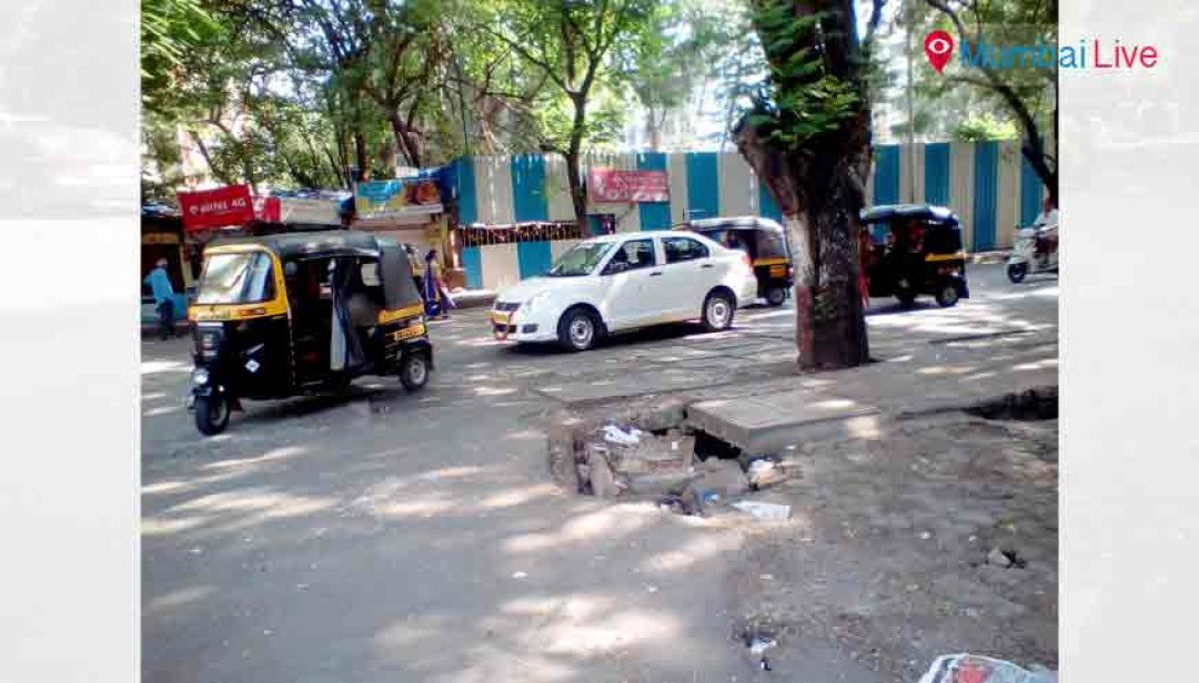 Potholes await repairing in Mulund