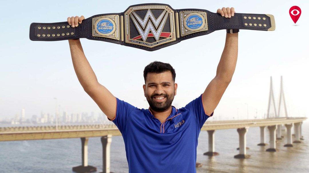 'ट्रिपल एच'नं मुंबई इंडियन्सला दिला चॅम्पियनशीप बेल्ट