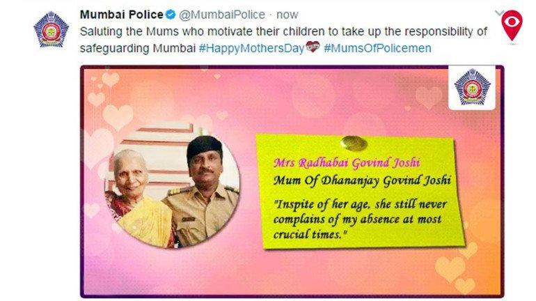 """""""मां"""" को मुंबई पुलिस का सलाम"""