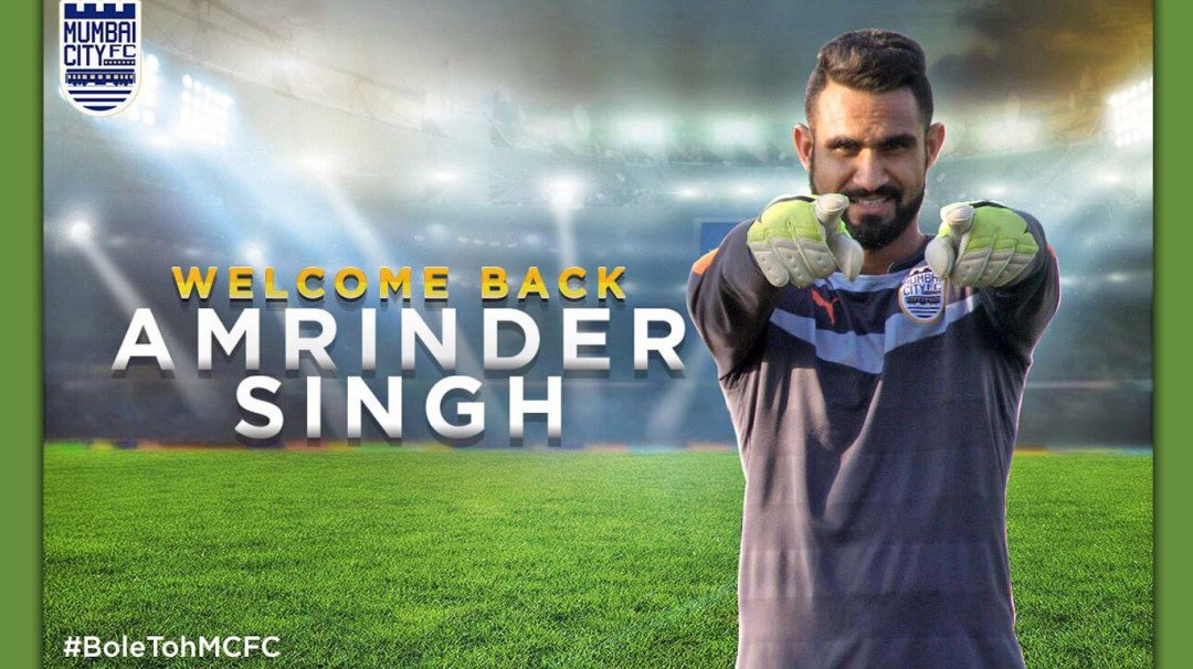 Amrinder Singh signs a record-breaking deal with Mumbai City FC