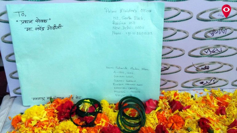 NCP targets PM Modi by placing bangles