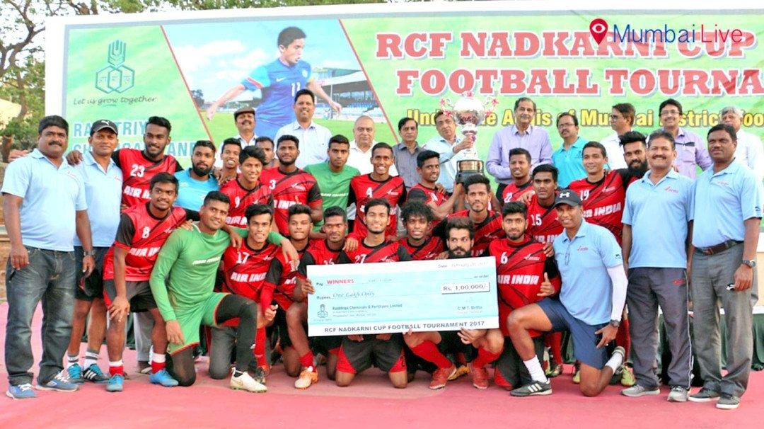 आरसीएफ फुटबॉल टुर्नामेंटमध्ये एअर इंडिया चॅम्पियन
