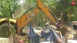 नेशनल पार्क में वन विभाग का बुल्डोजर गरजा