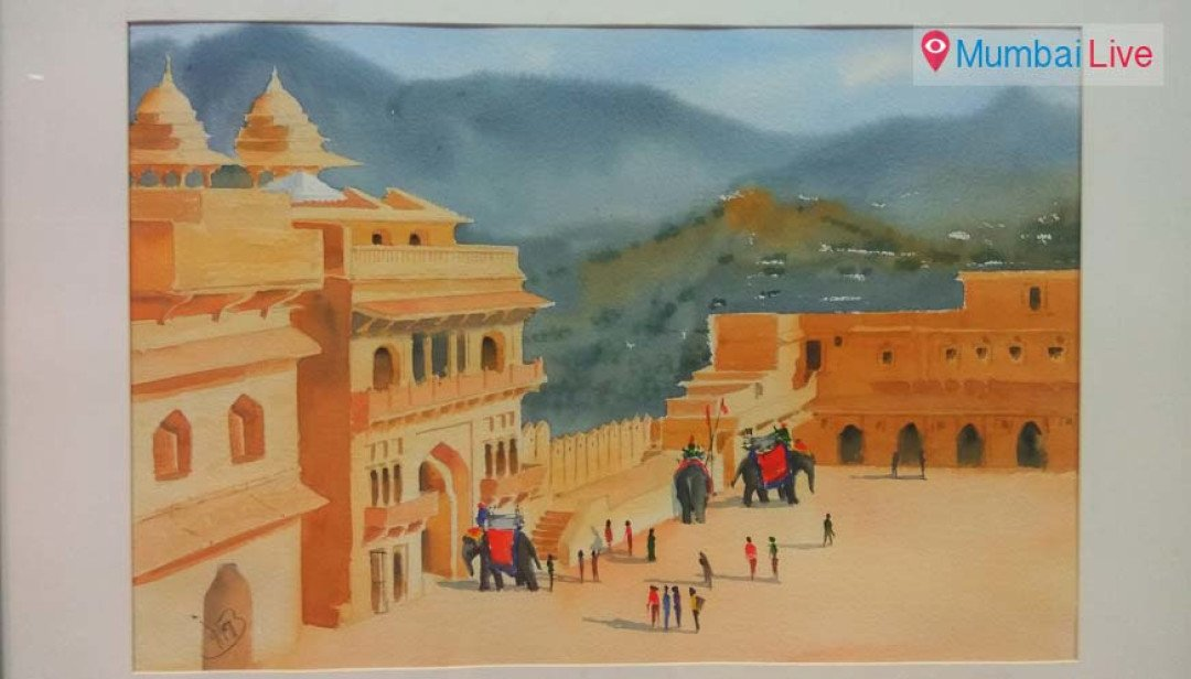 चित्रातून साकारलं राजस्थान